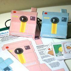 Printable paper cameras. So cute!