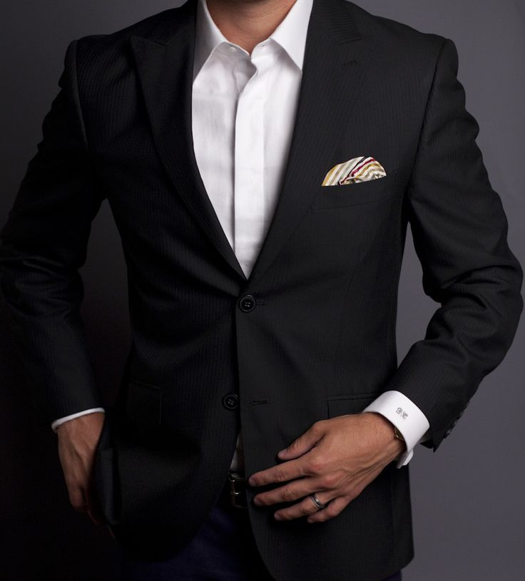 Black suit, white shirt. Just keep it simple.