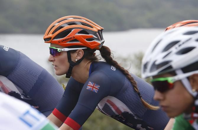 Lizzie Armitstead (Great Britain) in the women's Olympic Games road race