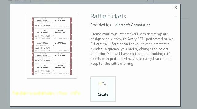 free printable raffle ticket template fresh numbered event ticket