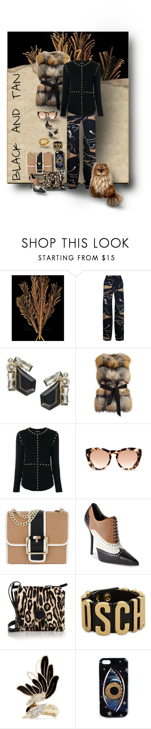 """""""THE LITTLE CAT COULDN'T HELP BUT WONDER WHAT KIND OF FUR THE VEST WAS MADE OF..."""" by hrhjustcuz ❤ liked on Polyvore featuring Valentino, Ted Baker, Gorski, Balmain, Michael Kors, Tommy Hilfiger, Gucci, Jimmy Choo, Moschino and Lanvin"""