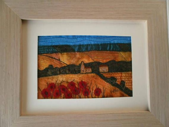 Yorkshire Wolds in Summer Textile Art