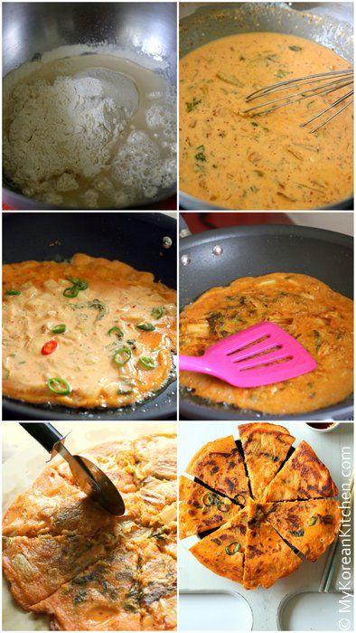 How to Make Crispy Korean Kimchi Pancakes
