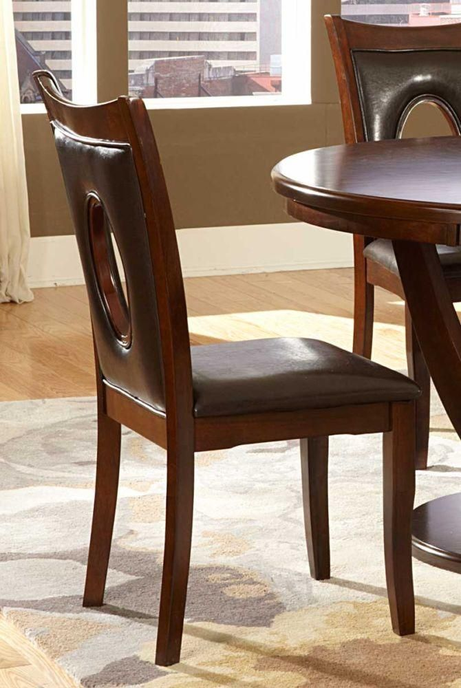 2568brs Vanbure 2pc Modern Rich Cherry Wood Side Chairs Brown