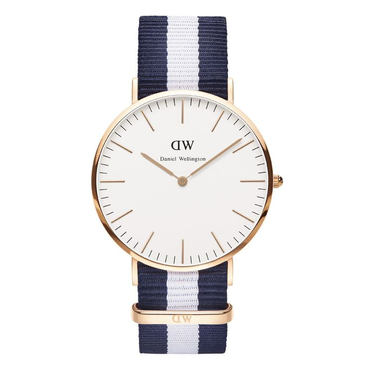 Get Daniel Wellington Classic Nato Glasgow Rose Gold Watch - Navy/White now  at Coggles - the one stop shop for the sartorially minded shopper. Free UK  & EU ...
