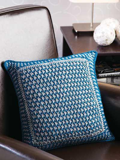 Crochet for the Home - Crochet Decor Patterns - Textured Tunisian Pillow -- Free Crochet Pattern