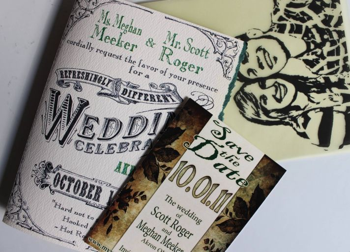 : Evening Wedding, Wine Labels, Wedding Invitations, Invitations Design, Invitations Ideas, Grooms, Custom, Awesome Invitations, The Roller Coasters