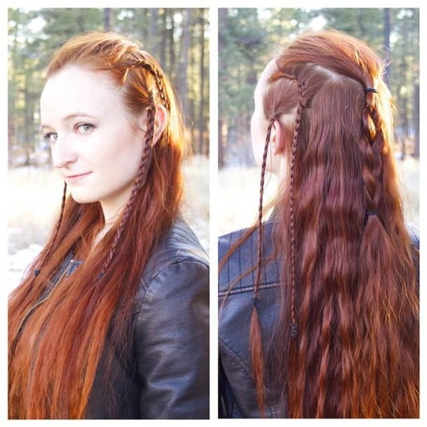 Replication of Fíli's hair from the Hobbit