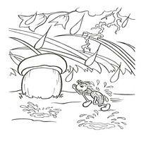 Раскраски по мотивам сказки Теремок - мыться