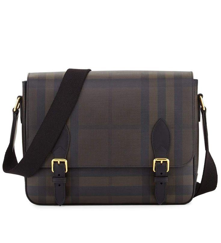 Burberry Hendley Check Messenger Bag Chocolate           $189.00