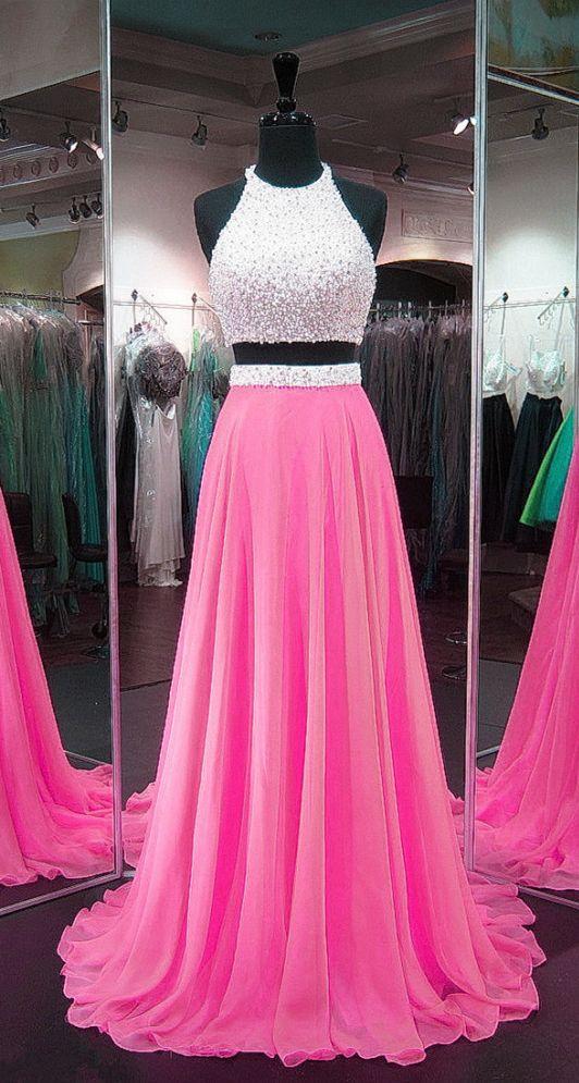 Chiffon Prom Gowns,Two Piece Prom Dress,2 Piece Prom Dress g-6676