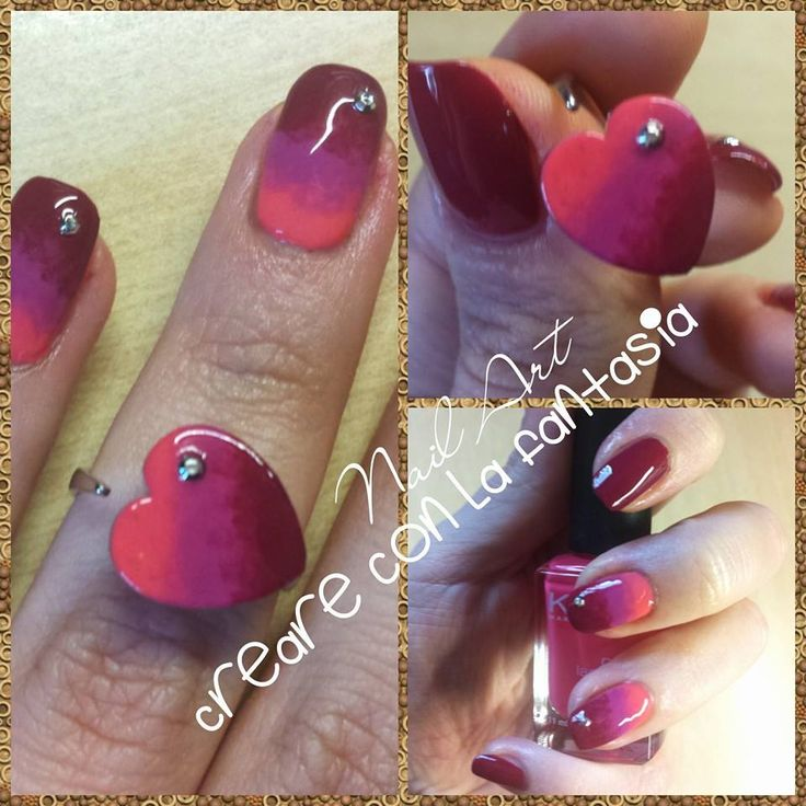 Abbinare smalto ad anello... ringbow #nailart #smalto #unghie #nails #sfumatura #ringbow