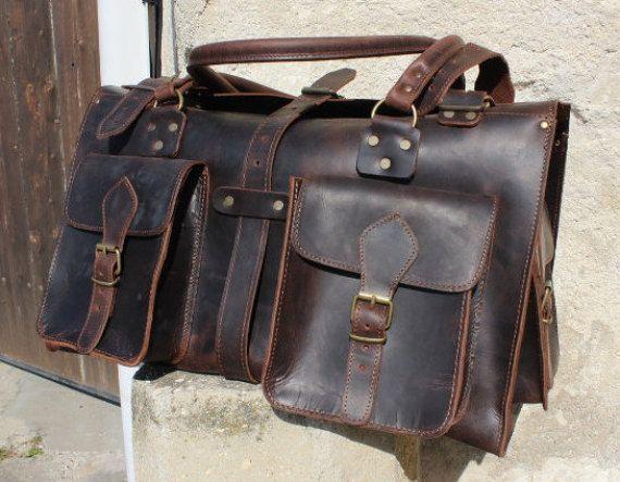 Weekender leather backpack leather duffle bag  weekenderbag