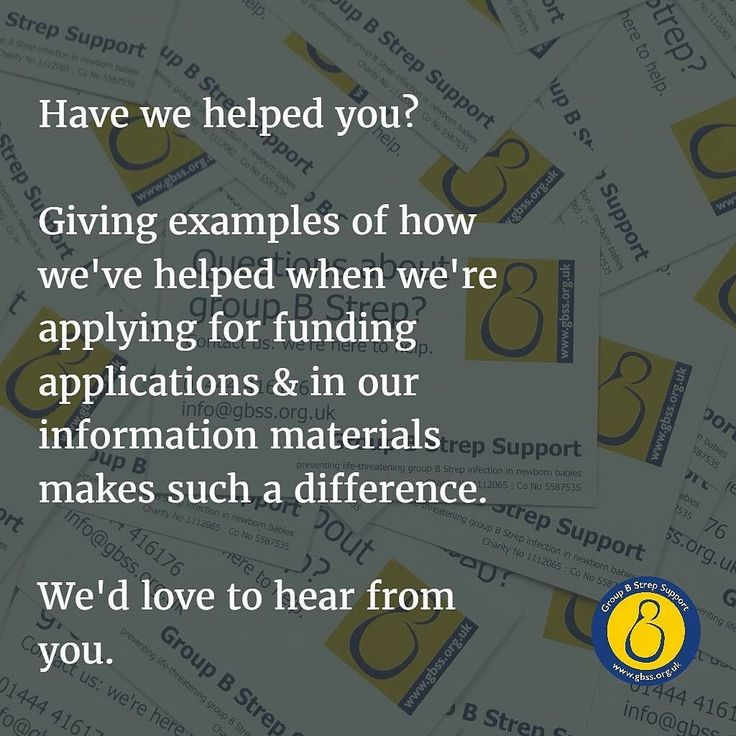 Have we helped you?  If so please would you tell us how? Giving examples of how we've helped when we're applying for funding applications & in our information materials makes such a difference.  Please comment below and/or email us at info@gbss.org.uk (with pictures if you have them!). Thank you so much.  #groupBStrep #GBS #StrepB #BStrep #pregnancy #pregnancy #baby #newbornbaby #healthybaby #healthymum #groupBStreptest #Whyguess #meninigits #sepsis #pneumonia