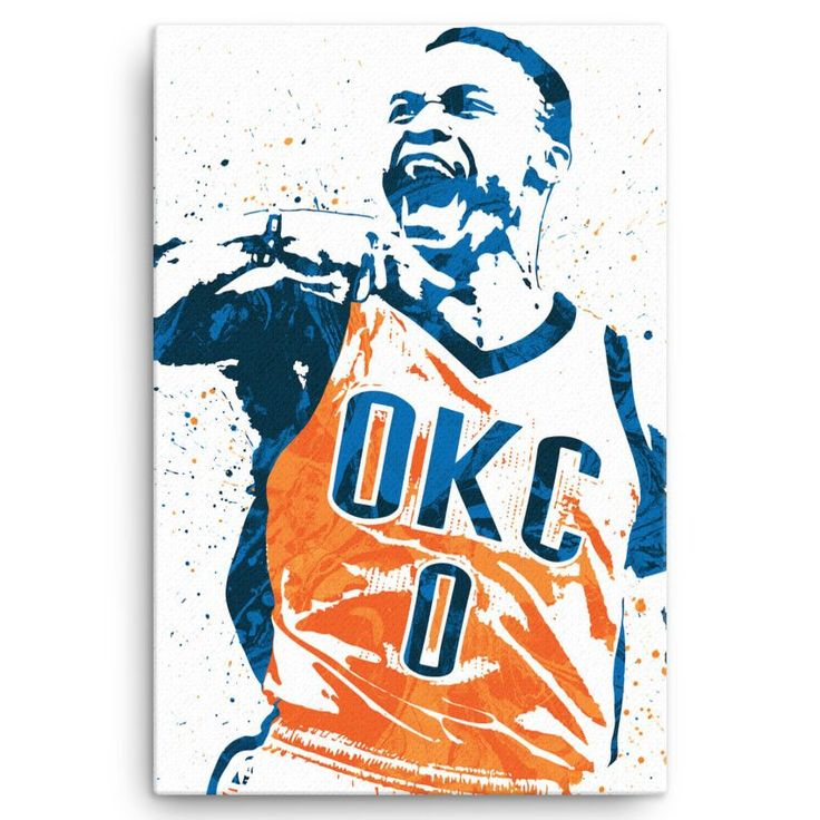 Russell Westbrook poster. Westbrook is an American professional basketball player for the Oklahoma City Thunder of the National Basketball Association (NBA). The point guard is a five-time NBA All-Sta