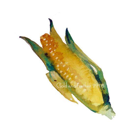 Corn Maize Clip Art Image Instant Download Vegetables Graphic
