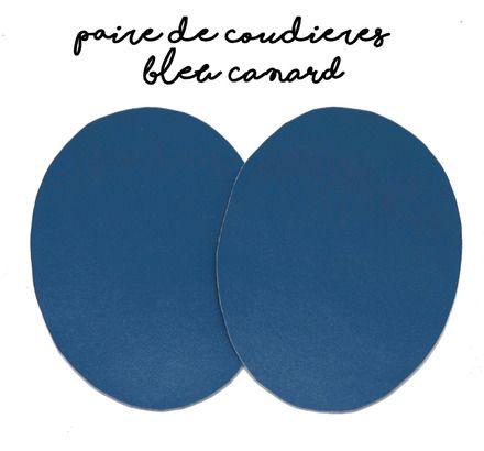 ★ ★  Paire de coudières en simili cuir ★ ★   Couleur : Bleu canard Dimension : 12 x 8cm environ Idéal pour la customisation de tous vos pulls, vestes et T-Shirt à ma - 9106470