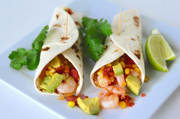 Shrimp Soft Tacos with Corn, Rotel, and Avocado Salsa- Makes 12 small tacos 1 pound frozen, raw, peeled medium shrimp 1 tablespoon Cholula hot sauce 2 tablespoons olive oil ½ teaspoon salt 1 and 1/…