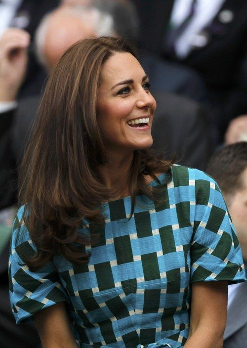 July 06, 2014: Prince William Duke of Cambridge and Catherine, Duchess of Cambridge in the Royal Box on Centre Court before the Gentlemen's Singles Final match between Roger Federer of Switzerland and Novak Djokovic of Serbia on day thirteen of the Wimbledon Lawn Tennis Championships at the All England Lawn Tennis and Croquet Club in London, England.