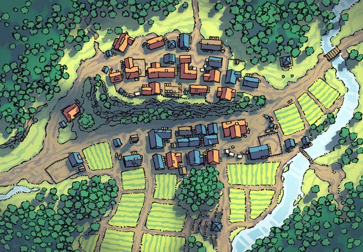 Poacher's Crest RPG town map