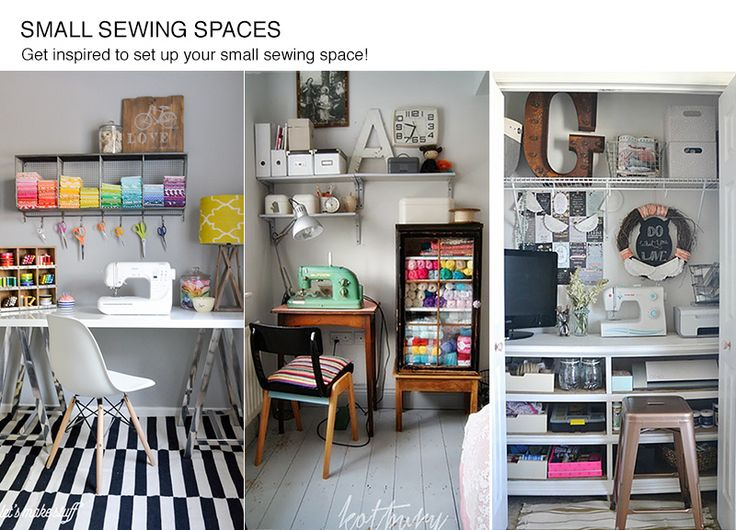 87 beste afbeeldingen over sewing and craft rooms op Sewing room ideas for small spaces
