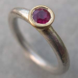 Designer Ruby Ring Set In Yellow Gold On A Silver Www Silverandstone