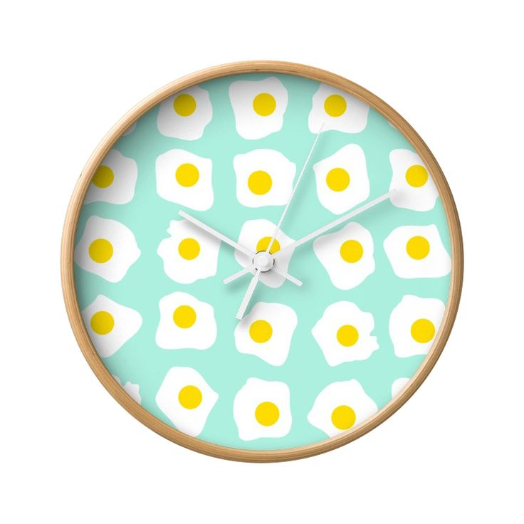 This clock is no yolk. No matter how you like your eggs, this Sunny Side Up Wall Clock is sure to make a great complement to your daily breakfast pancakes or morning cup of joy. Decorated with charming...  Find the Sunny Side Up Wall Clock, as seen in the Wall Clocks Collection at http://dotandbo.com/category/decor-and-pillows/clocks/wall-clocks?utm_source=pinterest&utm_medium=organic&db_sku=121959