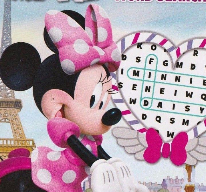 NEW  Disney Minnie Activity Book Word Search Finder Find Hunt