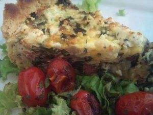 Spinasie quiche