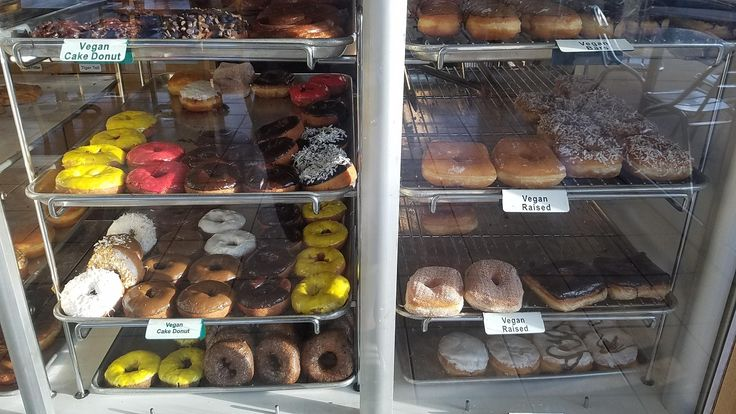 I'm moving to a beach town where i will get fatter. There are 24 hour vegan donuts. (Donuttery Huntington Beach CA)