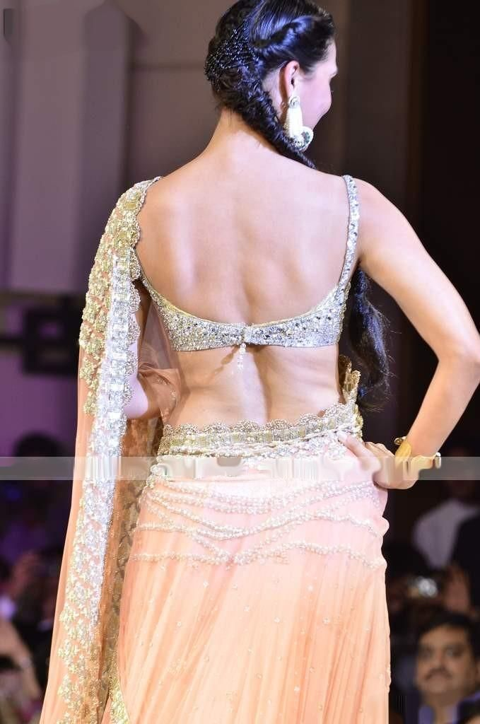 Backless saree blouses designs for women the excellent