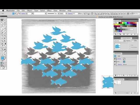 Vector Tuts+ Quick Tip — Make an Escher-esque Metamorphosis with the Blend Tool