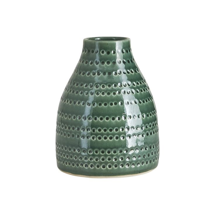 Discover the House Doctor Circles Vase - Emerald Green - 14.5x19cm at Amara