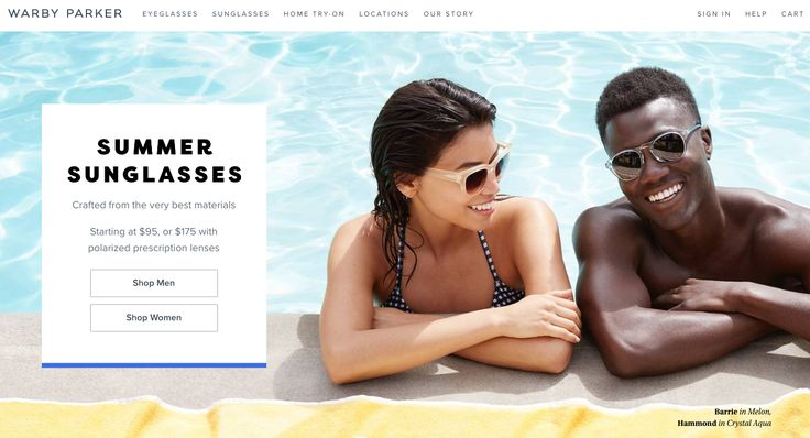 warby parker landing page