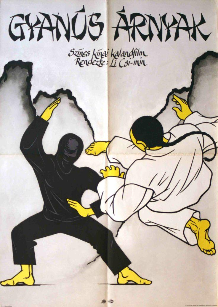 Gyanús árnyak - Hungarian vintage movie poster
