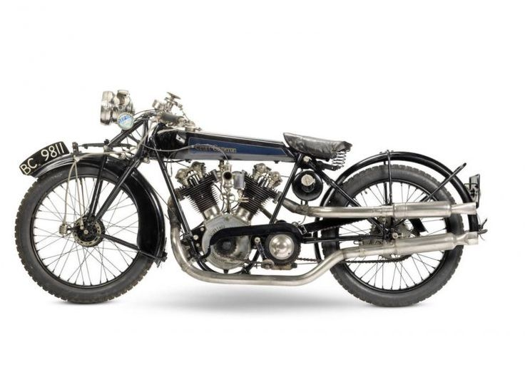 1924 Croft-Cameron Super Eight Motorcycle - 996cc British Anzani Eight-Valve OHV Twin. Croft-Cameron Motorcycles (1923-1926), Coventry England.