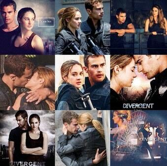 Shailene Woodley and Theo James as Tris Prior and Tobias Eaton
