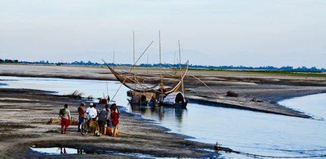 Majuli :Assam ; India ; Brahmaputra river