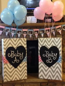 Our twin gender reveal #twins #genderreveal #twingenderreveal
