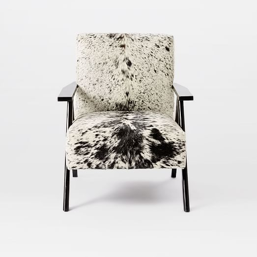 Retro Cowhide Chair - Black + White | west elm