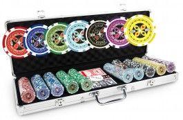 Mallette Ultimate Poker Chips 500 jetons - Pokeo.fr - Mallette de poker en aluminium 500 jetons Ultimate Poker Chips en PP stické 11,5g + 2 jeux de cartes en carton plastifié + 1 livret de règles du jeu Pokeo.