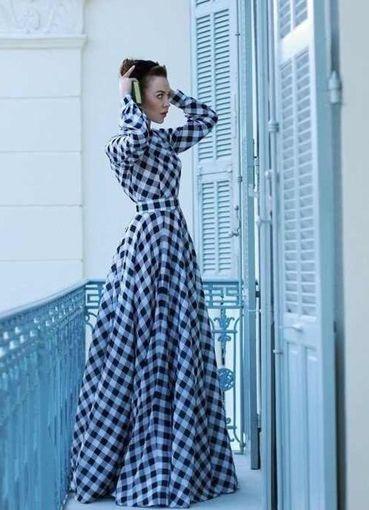платье в клетку в пол11
