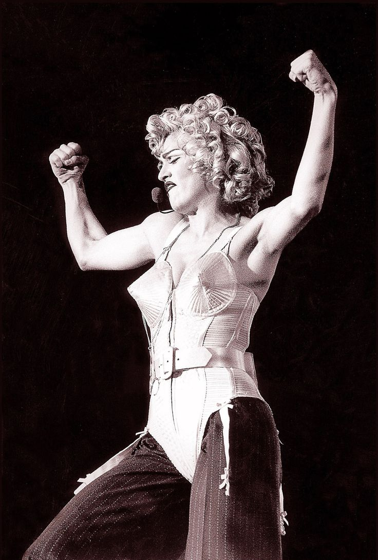 Few outfits are as iconic as the conical corsets that Madonna wore on her 1990 Blond Ambition tour. Jean Paul Gaultier