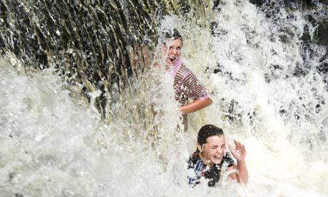 Wild swim, waterfall