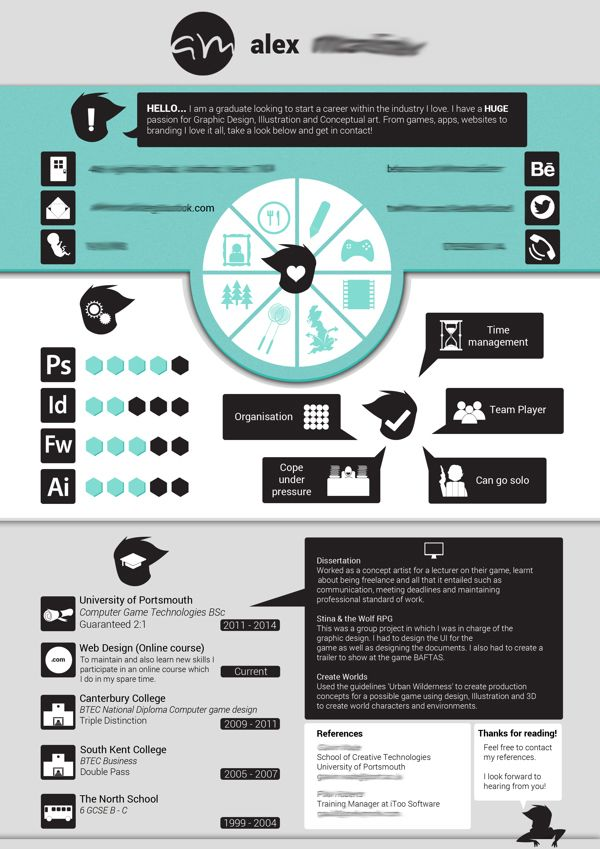 rendre un cv design