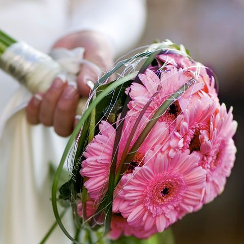 Hot Pink Gerbera Bride Bouquet | This is a gorgeous bridal b… | Flickr
