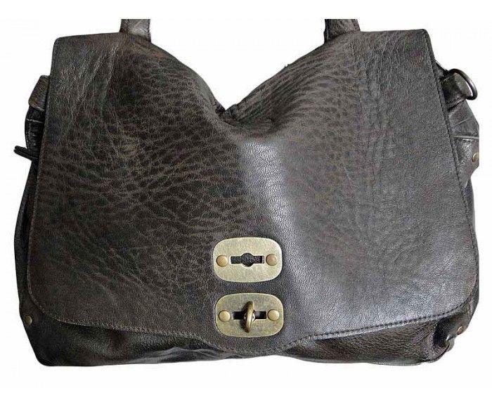 Sac vintage en cuir marron SABRYNA | Saheline.com