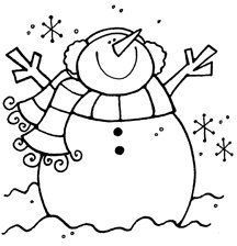 primitive snowman clipart black and white - Google Search