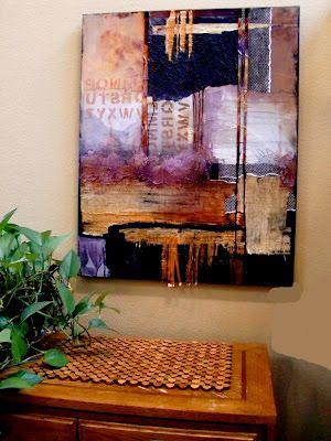 "Mixed Media Artists International: ""HEADLINES"" 12016, contemporary mixed media collage abstract © Carol Nelson Fine Art"