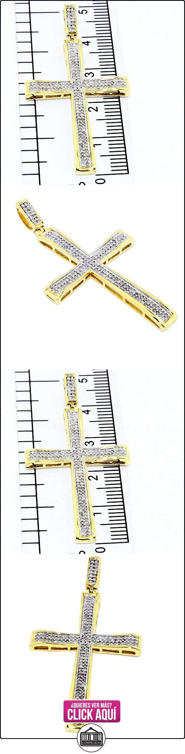 pendants-midwestjewellery Hombre 1/3cttw Diamante Cruz Colgante de 44mm de altura de oro amarillo de 10K Pave Set diamantes (0.33cttw)  ✿ Joyas para hombres especiales - lujo ✿ ▬► Ver oferta: https://comprar.io/goto/B00WPYKRUM